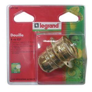 Legrand Douille E27 métallique fileté + 2 bagues - Accessoire luminaire