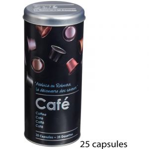 "Boîte à Capsules de Café """"Relief II"""" 17cm Noir"""