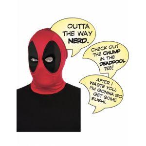 Cagoule luxe Deadpool adulte avec bulles
