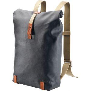 Brooks Sac à Dos Pickwick Day Pack 26L Taille L Gris - Sac à Dos Gris - Coton et cuir - Comporte une poche secrète cachée à l'arrière du sac. Volume 20-26 l.