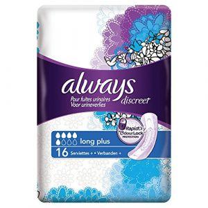 Always Discreet - 8 serviettes pour Incontinence Long Plus