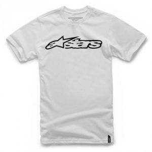 Alpinestars T-shirt Blaze Blanc/Noir - L