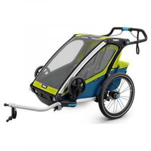 Thule Chariot - Poussette Remorque Sport 2 Bleu Citron Vert -