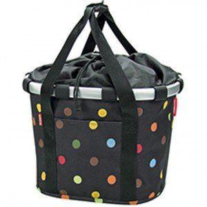 Klickfix Ladies Panier Vélo. 15 l Dots (pois colorés)