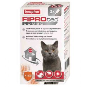 Beaphar Fiprotec Combo chats et furets 3 pipettes