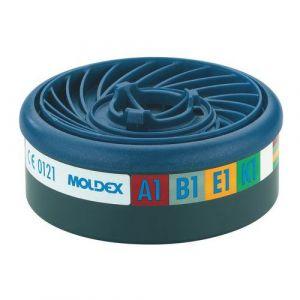Moldex Filtres à gaz pour masque respiratoire x10 Easylock niveau de protection: A1B1E1 940001