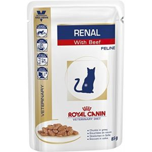Royal Canin Veterinary Diet Cat Renal Boeuf Sachet 12 x 85 grs