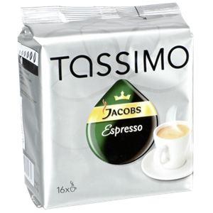 Tassimo 16 dosettes T-Discs Jacobs Espresso