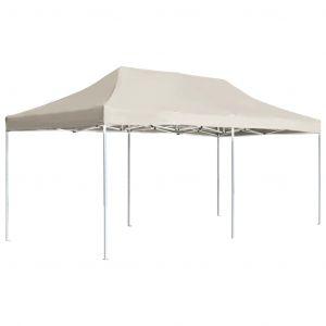 VidaXL Tente de réception pliable Aluminium 6 x 3 m Crème