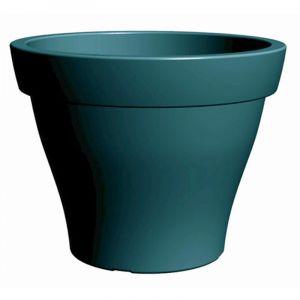 Poetic Pot de fleur rond Roméo XXL 120 cm Bleu Pétrole