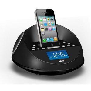 Akai ACI-6 - Radio réveil avec station d'accueil iPhone/iPod