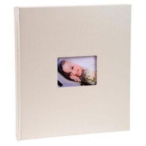 Exacompta 16423E - Album photos Softissimo 29x32 cm, 60p. blanches/300 photos, reliure livre blanc