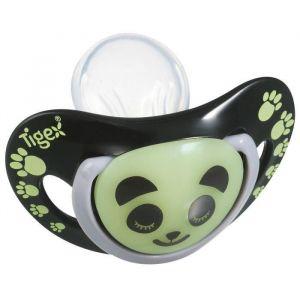 Tigex 2 sucettes Smart Night Panda phosphorescente silicone 0-6 mois