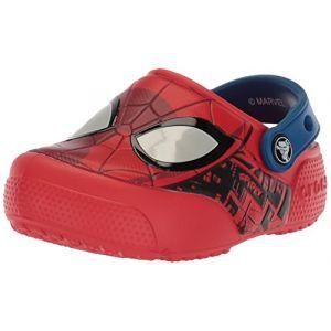 Crocs Fun Lab Spider-Man Lights Clog Kids, Sabots Garçon, Rouge (Flame), 23-24 EU