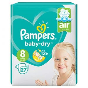Pampers Taille 8 Baby Dry Lot de 27