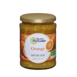 Saveurs attitudes Confiture extra d'orange bio 600g
