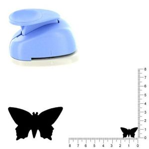 Artémio VIHCP240 Perforatrice à Levier Moyenne 2,5 cm Papillon #1, Plastique, Multicolore, 8,5 x 5 x 12 cm