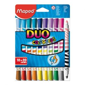 Maped 10 feutres double pointe Duo Color'Peps