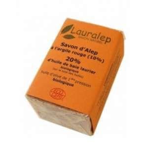 Lauralep Savon d'Alep à l'Argile Rouge 20% d'huile de laurier