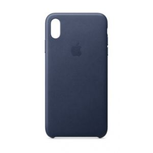 Apple Coque iPhone XS Max cuir Bleu nuit