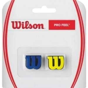 Wilson Anti-Vibrateurs avec Logo pour Raquette Pro Feel Lot de 2 Vert/Orange WRZ538700