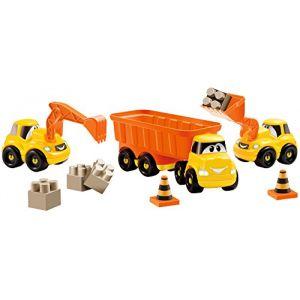 Ecoiffier Ensemble de 3 véhicules de chantier Fast truck Abrick