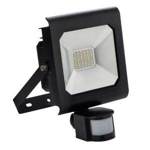 Kanlux Projecteur LED 30 watt IP44 avec détecteur de mouvement - Finition - Noire