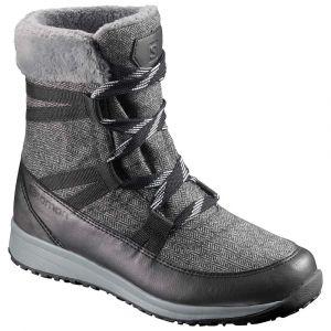 Salomon Chaussures après-ski Heika Cs Wp - Black / Quarry - Taille EU 40