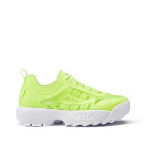 FILA Disruptor Run Femmes Sneakers Chunky Baskets Chunky, Mesh,Chaussure d'athlétisme - Jaune - Vert tendre, 38 EU