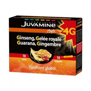 Juvamine Ginseng Gelee Royale Guarana Gingembre 10 ampoules