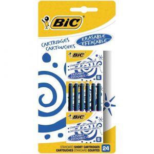 Bic Cartouches standard courtes bleues x 24