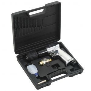 "VidaXL Kit de perceuse pneumatique 3/8"" 15 pcs"