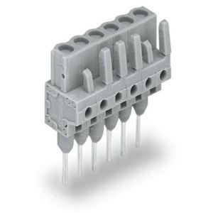 Wago 232-140/005-000 - Connecteur femelle droit gris 10 pôles avec broches à souder sur circuit imprimé pas 5 mm emballage industriel de 50 pc(s)