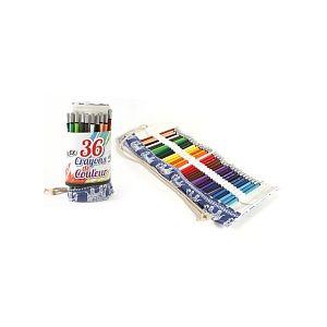 Mgm 36 Crayons de Couleur + Trousse en toile