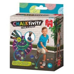 Jumbo Chalktivity - Balle rebondissante, jeu créatif d'extérieur avec de la craie