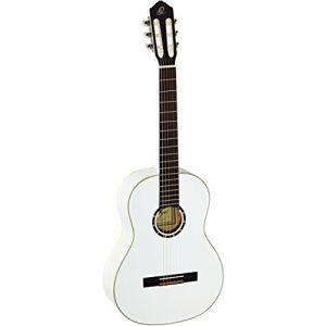 Ortega R121WH Guitare concert avec housse épicéa corps Acajou Blanc