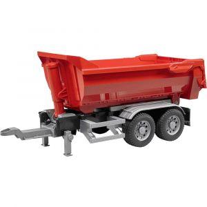 Bruder Toys Remorque HalfPipe rouge pour camions, Modèle réduit de voiture