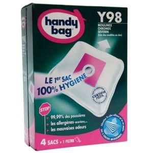 Image de Handy Bag Y98 - 4 sacs aspirateur en microfibres et 1 filtre sortie d'air