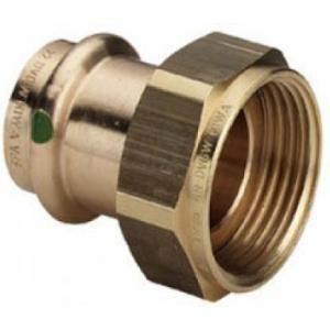 Viega 444174 - Raccord écrou tournant joint plat diamètre 16 20 x 27 bronze modèle 2263
