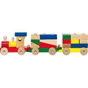 Goki Jouet à tirer : Train avec briques
