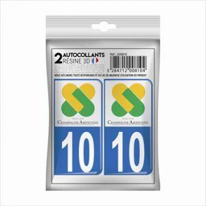 Cadox 2 Stickers En 3d Département Aube 10