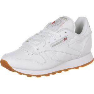 Reebok Cl LTHR, Sneaker Bas du Cou Femme, Blanc (White/Gum), 37 EU