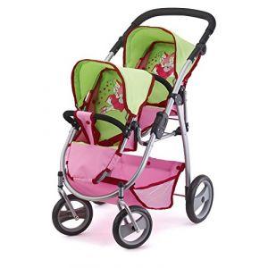 Bayer Design Z willi ngswagen pour poupées rose/vert 26545AA