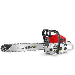 """Greencut Tronçonneuse thermique 65cc 3,8cv lame 20"""" legere puissante"""