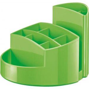 Han 17460-90 - Pot à crayons RONDO, 9 compartiments, en PS, coloris vert