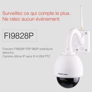 Foscam FI9828P - Caméra IP wifi HD extérieure motorisée