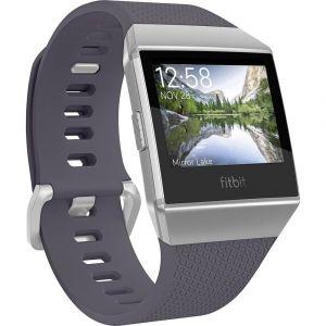 Fitbit Bracelet de rechange FB164ABWTGYS Taille=S bleu-gris, argent