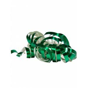 2 Rouleaux de serpentins vert métallique 4 m Taille Unique
