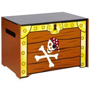 Worlds Apart Malle à jouets Pirate en bois (40 x 40 x 60 cm)