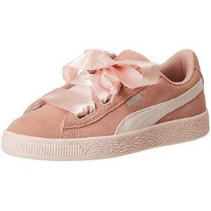 Puma Suede Heart Jewel PS, Sneakers Basses Fille, Beige (Peach Beige-Pearl), 32 EU